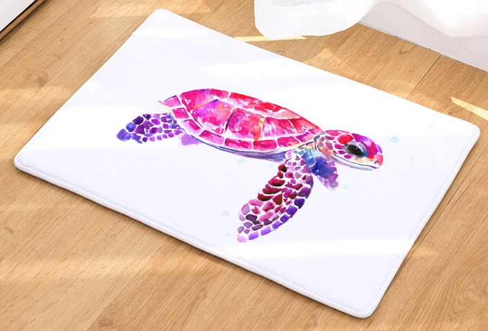 Image 5 - CAMMITEVER Sea Turtle Animal Carpet Hallway Welcome Floor Mats Tapete Rug Print Bathroom Kitchen Carpet House Home Doormats-in Rug from Home & Garden