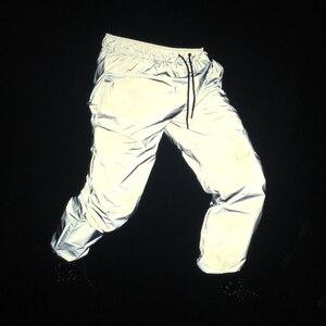Image 5 - Pantalon jogging réfléchissant pour homme, hip hop, réfléchissant complet, pour la danse, le hip hop, costume de scène, hip hop, collection automne décontracté