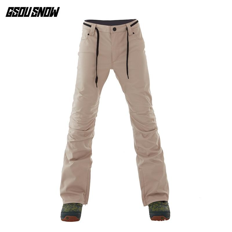 GSOU SNOW Brand Ski Pants Men Snowboard Pants Pofessional Skiing Pants Winter Outdoor Sport Snowboarding Clothing Snow Trousers