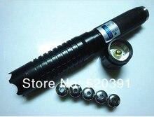 Buy NEW 100000mw/100w Blue Laser Pointer 450nm Flashlight Adjustable Burning Match/Dry Wood/Black/Burn Cigarettes+Glasses+Box 3012