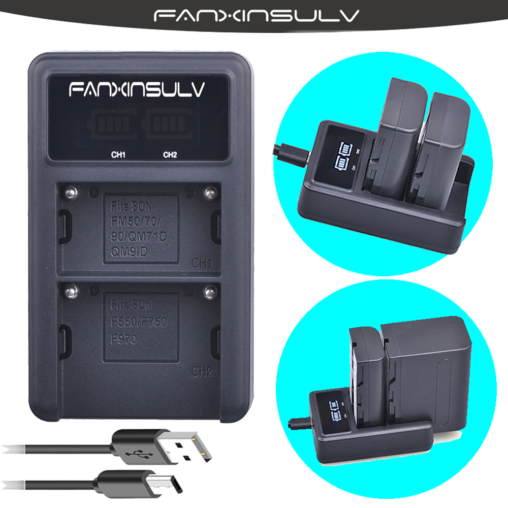 2x 2200mAh 7 2V NP FM500h Battery LCD USB Dual Charger For SONY A77M2 A99 A900 A580 A200 A200K A200W SHIP WITH TRACKING NUMBER in Digital Batteries from Consumer Electronics
