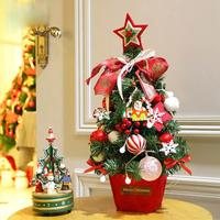 Christmas Tree Decorations For Home Artificial Christmas Tree Figurine New Year 2018 Party Home Decor 11