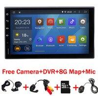 Android 7.1 HD 1024*600 scherm Quad core RK3188 ROM 16G 2 DIN universele autoradio gps met wifi auto stereo audio geen DVD-SPELER