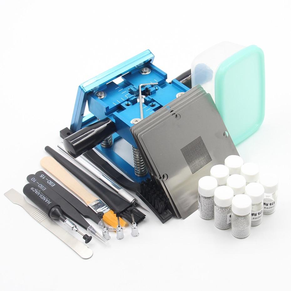 BGA fixtures 90x90 Reballing Station Reballing Bga Sik tin template for Laptop Gameconsole 10pcs Stencil Help solder paste