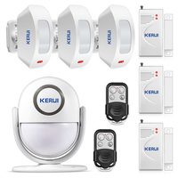 KERUI P6 PIR Motion Detector Welcome Alarm Chime Alarm Wireless Security Alarm System Protection Supports External Speaker