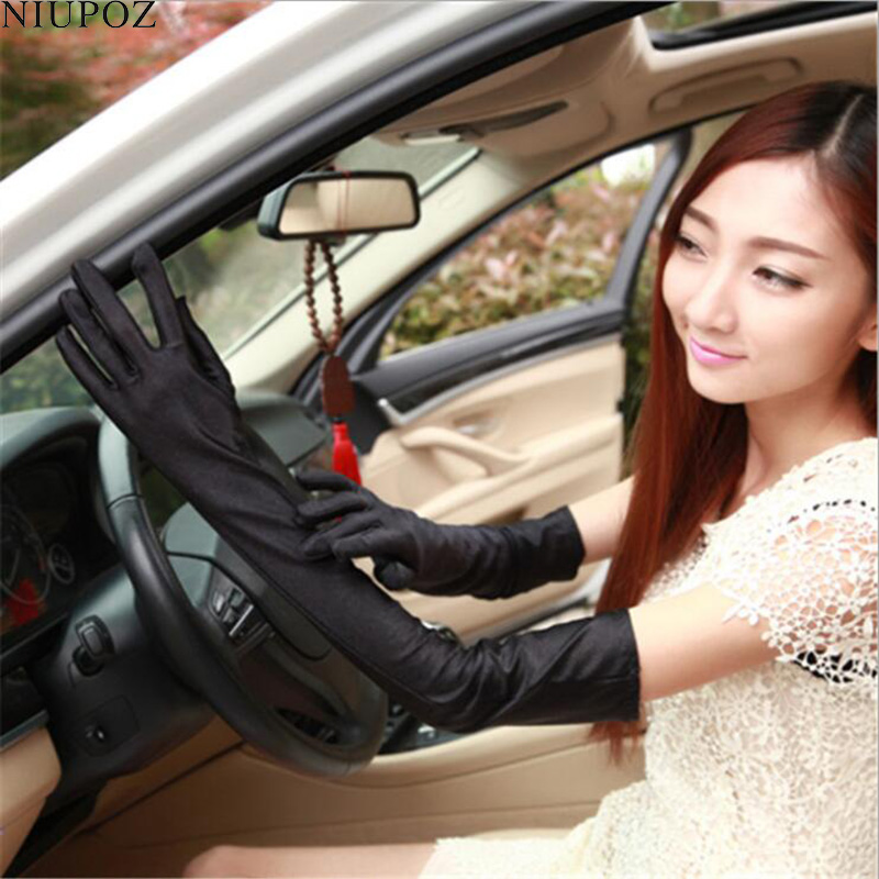 Classic Elasticity Female Evening Party Costume Gloves Women Sexy Fashion Long Full Finger Gloves Ladies Ritual Dance Glove G213