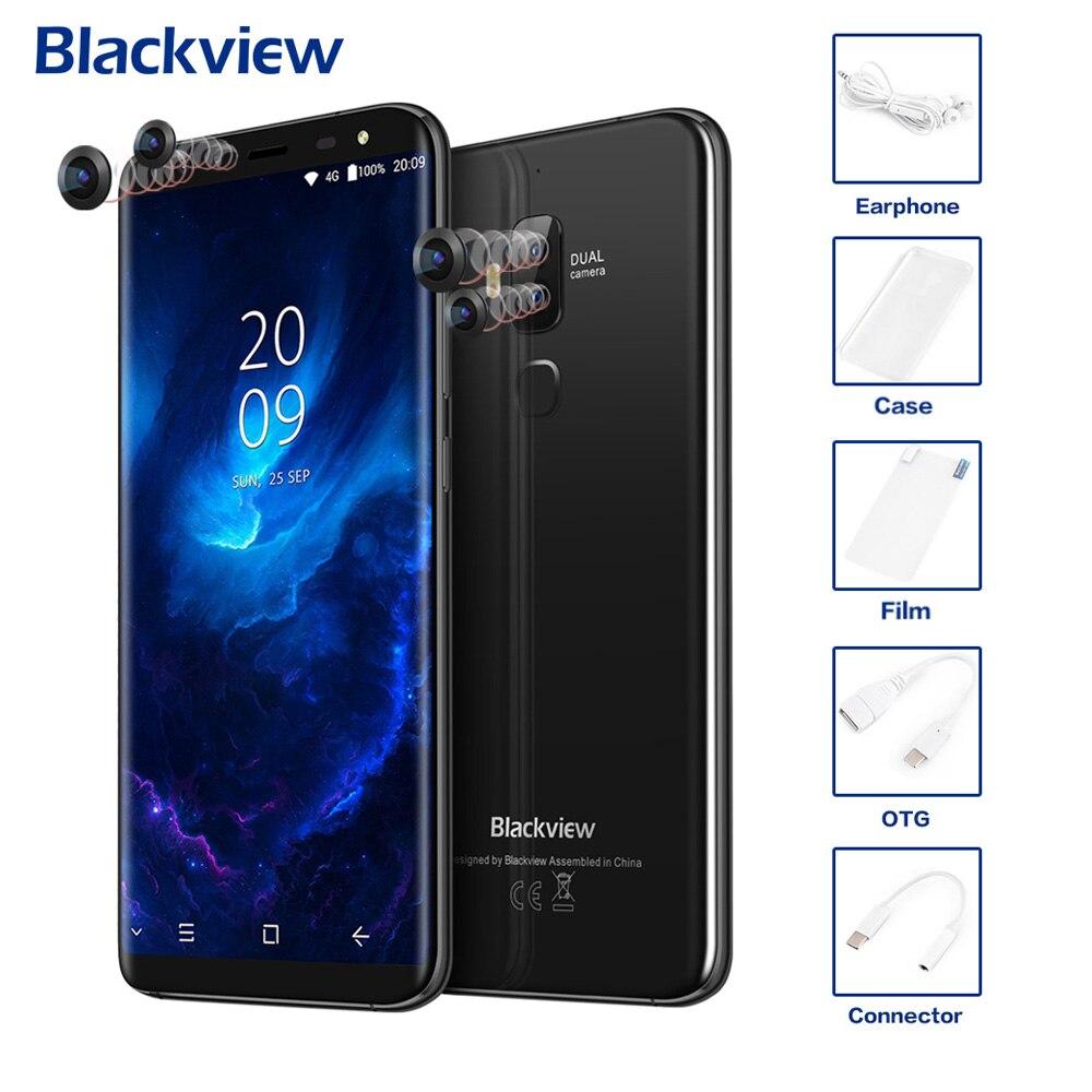 Originale Blackview S8 4g Del Telefono Mobile Display 18:9 HD Quattro Camme 5.7 ''4 gb + 64 gb Android 7.0 Octa Core 13MP + 0.3MP MTK6750T 3180 mah