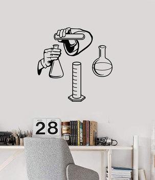 Calcomanía de vinilo para pared ciencia misterio química laboratorio escuela Aula química interior adhesivo mural KX09