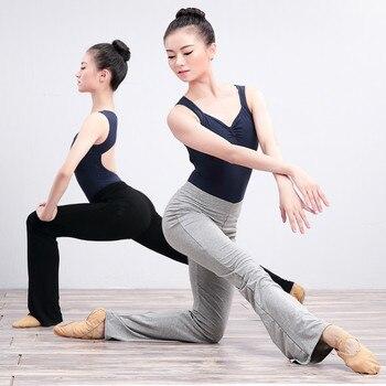 Modal Flare Long Trousers Women Girls High Waist Stretch Bell-bottoms Ballet Fitness Running Jogging Gymnastics Dance Pants - discount item  14% OFF Stage & Dance Wear