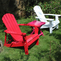 Outdoor Folding Wood Adirondack Chair 2 Colors White/Red Outdoor Furniture Folding Chair Wooden Beach Balcony Chair Lounger