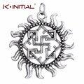 5 pcs Antigo Eslavo Pingentes Amuleto Valkyrie Símbolo Viking Escandinavo Amuleto Charme Pingente para Colar de Jóias Artesanais