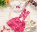 Детские Дети комплект Одежды лета детская Одежда Мода Новый 2015 Летние платья для Девочек Малышей Платье Принцессы ребенка девушка