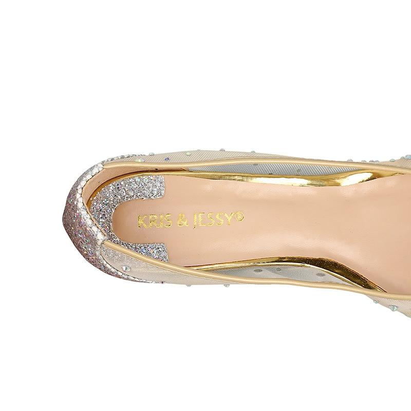 Piel Mujer Auténtico Dulce Oveja Planas Zapatos Interior Brillo Tacones Boda transparent De Mujeres Aire Black Malla Rhinestone Bling Cuero zSdFq