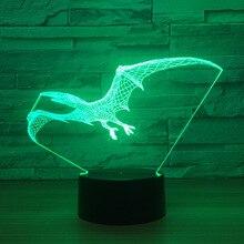 3D светодиодный динозавров модель игрушки интерьера модель с светодиодный Украшения подарок коллекция K 1270