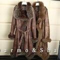 Private Customized Woman's Fur Coat Sheep Shearing Fur Coat Women In The Long Section