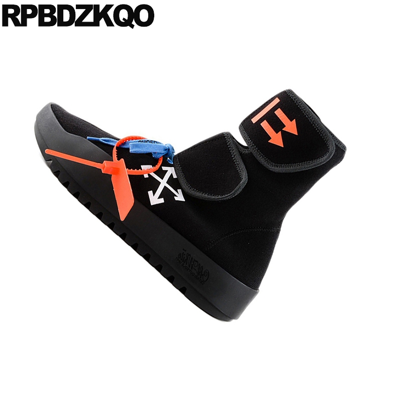 79ba4621342986 Automne Chaussures Rond Sneakers Noir gris Marque Cheville Avant forme Grande  Bottes Tricot Harajuku Lacent Flatform Femmes Noir Plate Muffin Bout Casual  ...