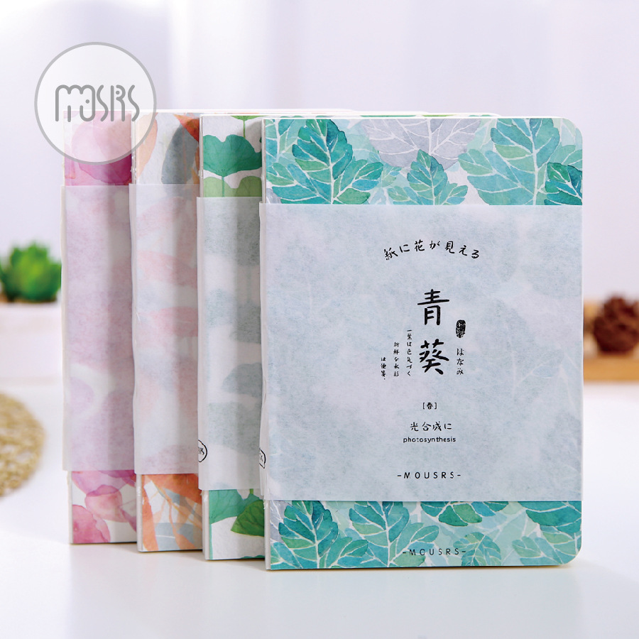 2017 New Luminous Hand-painted Fresh Plant Notebook paper Diary Drawing graffiti Painting Sketch Book School Supplies Gift bosch rotak 40 f 016 800 367