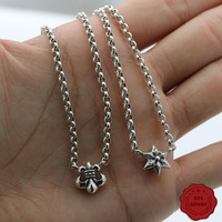 S925 sterling silver necklace personality fashion punk hip hop style anchor star styling jewelry to send lover 2019 new hot sale