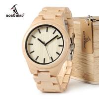 BOBO BIRD Top Brand Designer Men S Wooden Watches Zabra Wood Bamboo Quartz Watches For Men