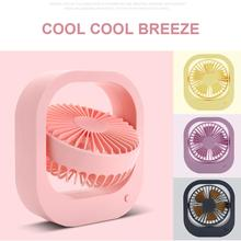 Mini USB Fan Wireless Rechargeable Battery Powered Quiet Table 360 Degrees Rotation Anti-slip Rubber Pad For Office Home