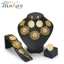 MuKun Fashion Big Flower Dubai bridal Jewelry Sets African Beads Set For Women Wedding Indian Ethiopian 2018 New