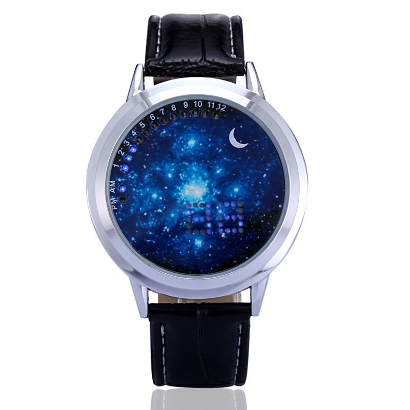 Couple Watch Men Women Fashion Simple Touch Screen Smart Watch LED Luminous Cool Students Star Sky Watch Waterproof Male Clock