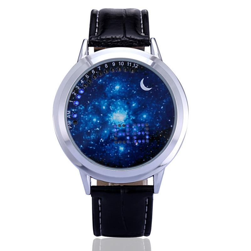 Couple Watch Men Women Fashion Simple Touch Screen Smart Watch LED Luminous Cool Students Star Sky Watch Waterproof Male Clock