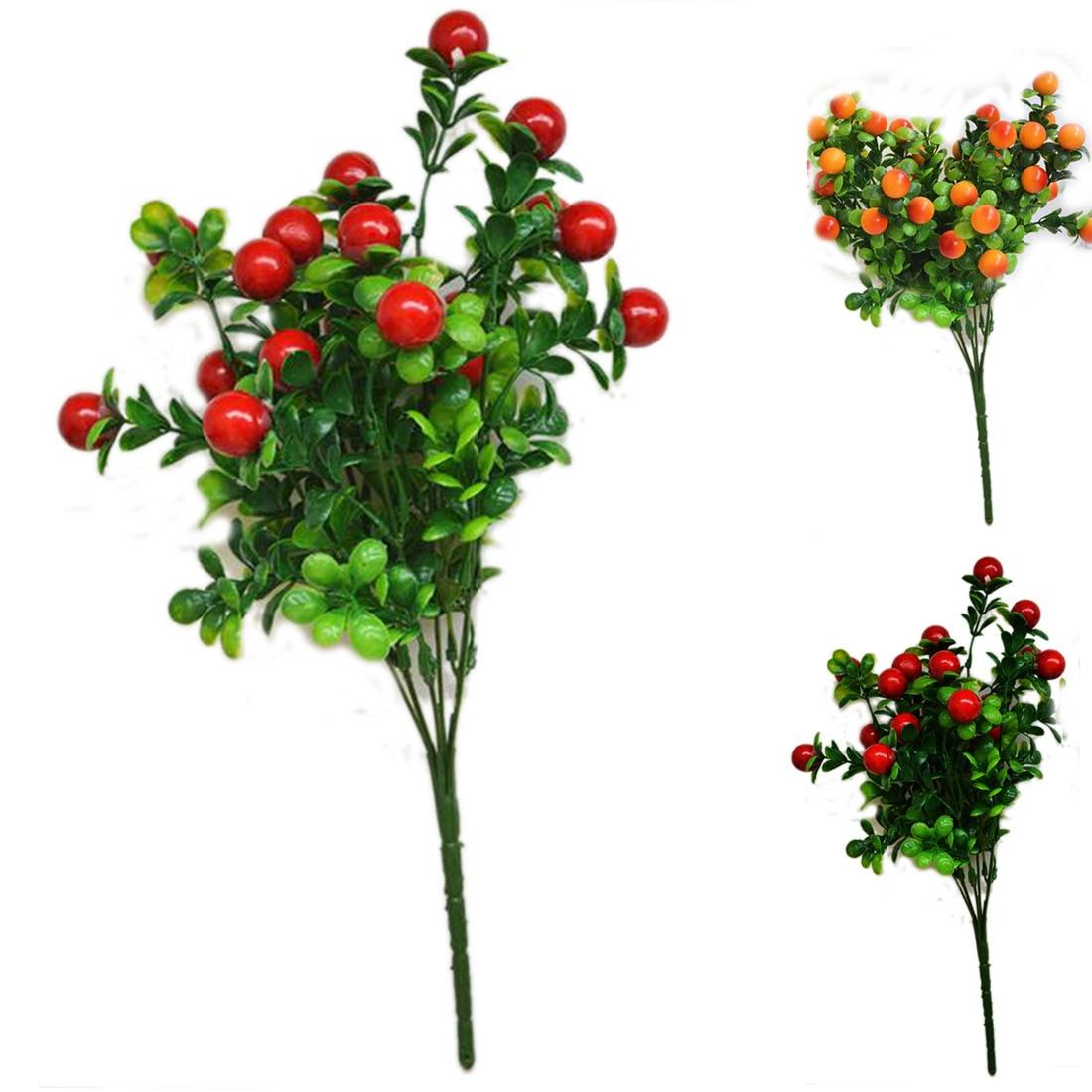 Hot Home Decoration Artificial Plants Simulation of Fruit 6 Branch Rich Fruit