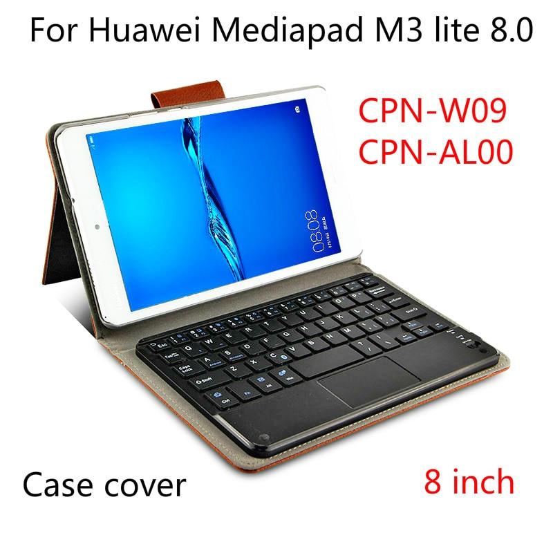 Bluetooth Keyboard Case For Huawei Mediapad M3 Lite 8.0 PU Leather Case For Youth Cpn-W09 Al00 8