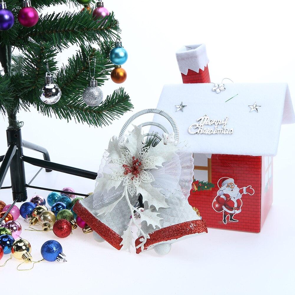 decoracin del rbol de navidad campana colgante adornos gran campana doble para el hogar coche