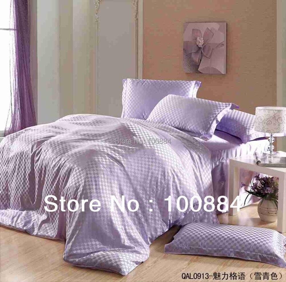 Roi violet soie housse de couette, 30% soie + 70% fibre 4 pc ensembles de literie sans remplissage, soie couvre-lits violet soie