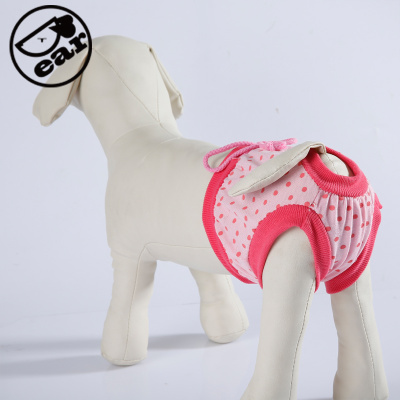 Female Pet Dog Puppy Sanitary Lovely Pant Short Panty Striped Diaper Underwear 5 designs size S,M,L