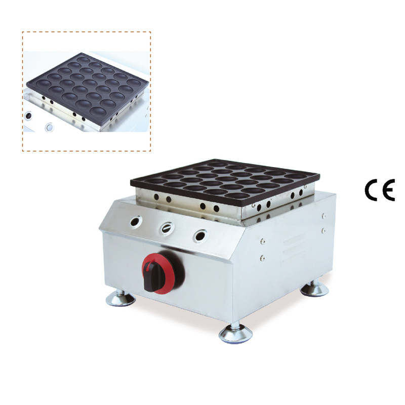 Gas Type Poffertjes Waffle Maker with non-stick pan poffertjes pan waffle maker double pans small pancake machine poffertjes machine with non stick pan poffertjes grill waffle maker with 50 pcs moulds