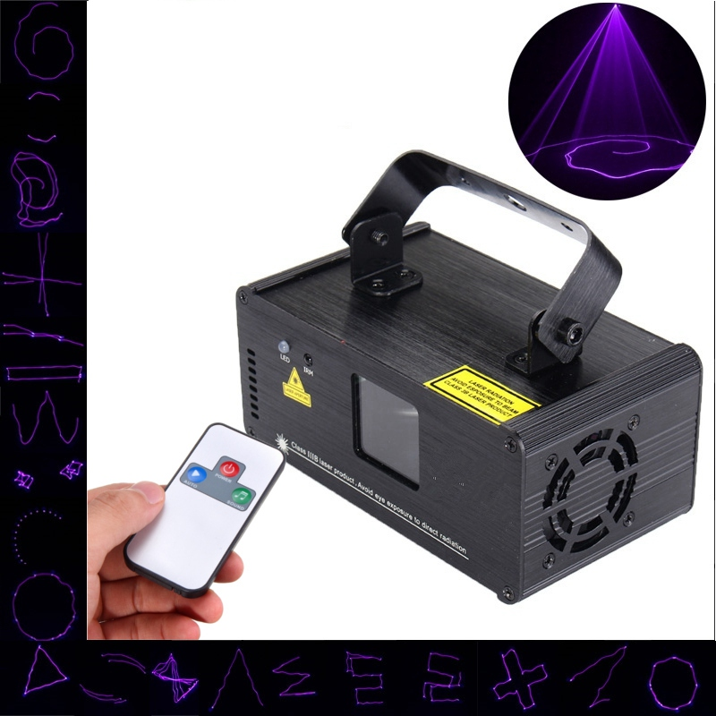 LED Stage Light DMX Mini UV Purple Stage Lighting Effect Laser Projector Light For DJ Party Show Holiday Decoration Lamp Lights rg mini 3 lens 24 patterns led laser projector stage lighting effect 3w blue for dj disco party club laser
