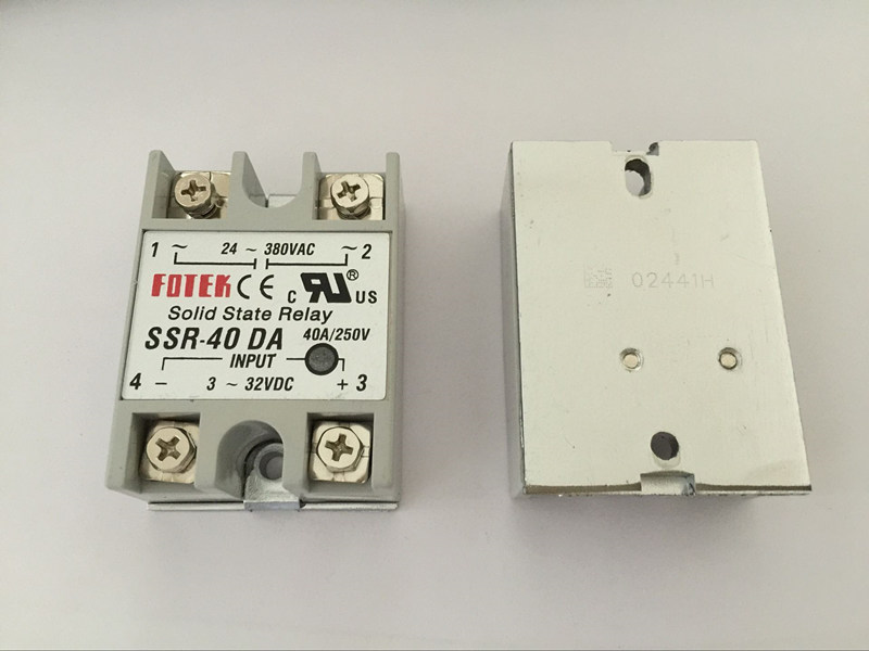 1PCS SSR40DA SSR-40DA Manufacturer 40A ssr relay,input 3-32VDC output 24-380VAC normally open single phase solid state relay ssr mgr 1 d48120 120a control dc ac 24 480v