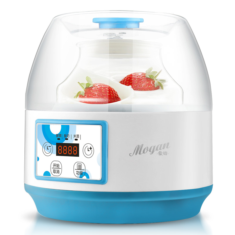 ZCW-S04 Enzyme Yogurt Machine Home Fully Automatic High Capacity 2L Glass Liner Multifunction Rice Wine Yogurt Maker hot selling electric yogurt machine stainless steel liner mini automatic yogurt maker 1l capacity 220v