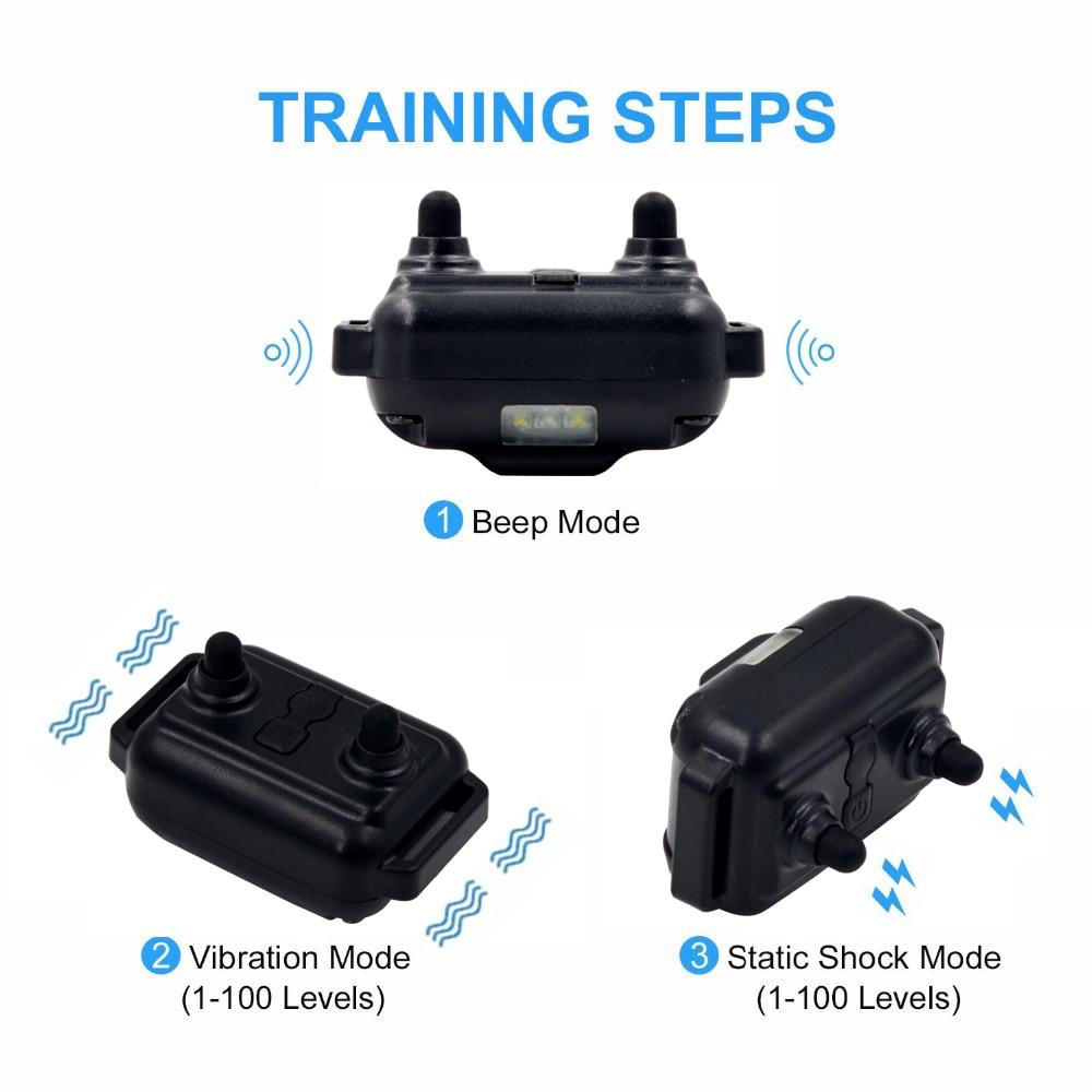 Remote Control Waterproof Dog Training Electric Shock Collar  3