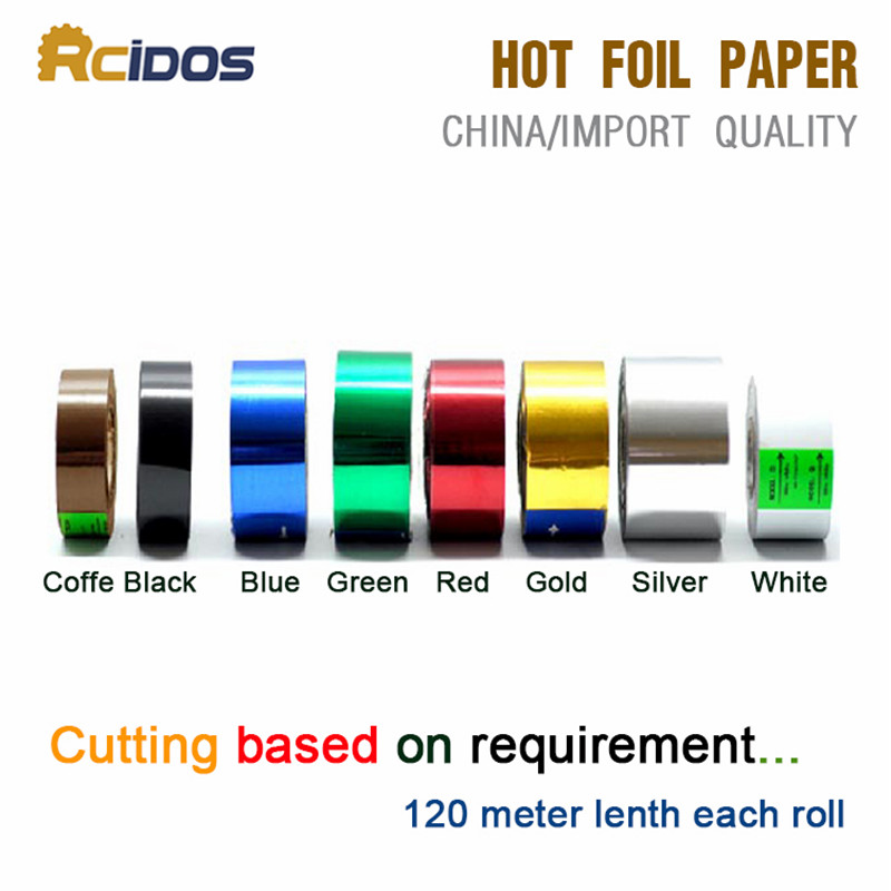 RCIDOS Hot stamping foil paper,laser foil paper,leather,cigarette box,mobile phone box stamping machine foil paper
