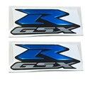 Blue MOTORCYCLE EMBLEM BADGE DECAL 3D TANK WHEEL LOGO FOR SUZUKI GSXR600 GSXR750 GSXR1000 STICKER