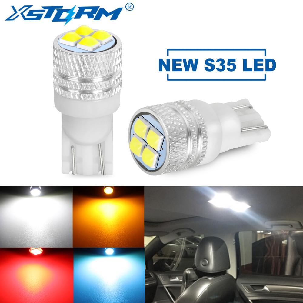 2Pcs T10 W5W Led Bulb Super Bright S35 Car Interior Reading Dome Light Marker Lamp 168 194 LED Auto Wedge Parking Bulbs 12V