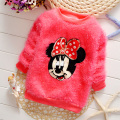 2017 Hot New Net classic hot-selling pullover fleece clothing baby girls sweater children's cardigan