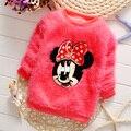 2017 New Hot clássico Net hot-venda pullover roupas de lã meninas do bebê camisola das crianças cardigan