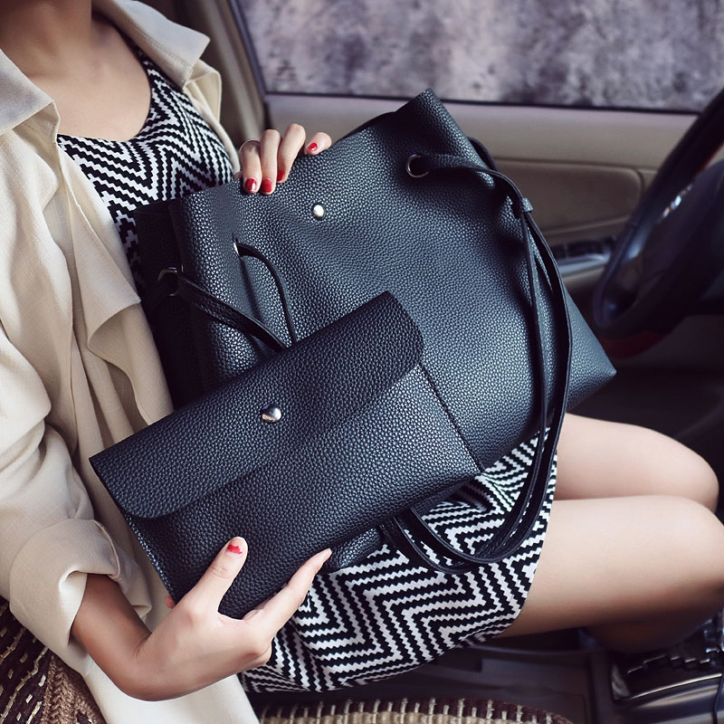 high quality Designer Women Leather Handbag Bucket Shoulder Bags Ladies Cross Body Bags Large Capacity Ladies Shopping Bag Bolsa casual women leather handbags bucket shoulder bags ladies cross body bags large capacity ladies shopping bag bolsa 6 colors