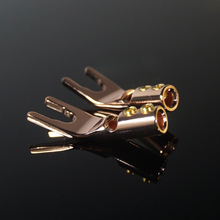 HiFi MPS Y 1 tipi Y tipi U HiFi hoparlör konnektörleri muz fiş saf bakır amplifikatör konnektörleri hoparlör konnektörleri