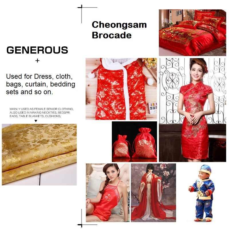 de848b5a7 ... Dragon cheongsam brocade fabric 90*100cm Chinese style Tang costume  silk clothing DIY for Dress ...