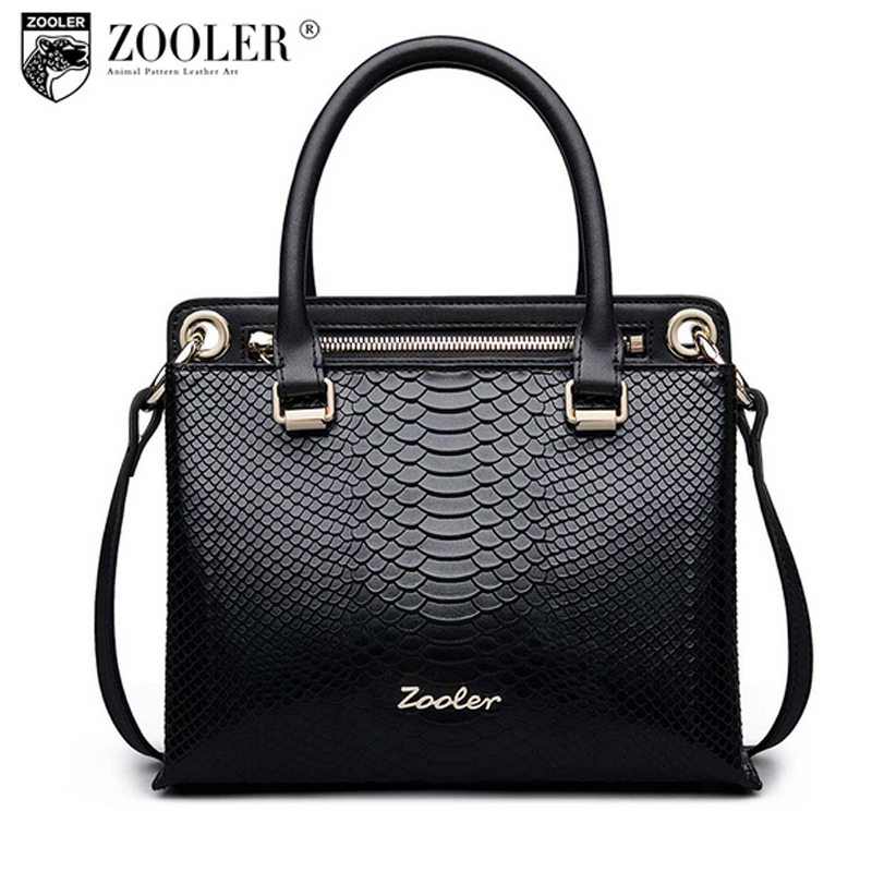 ZOOLER Business Ladies Handbag Genuine Leather Snake Skin Large Capacity Shoulder Bags Fashion Tote Bolsa Feminina Sac A Main