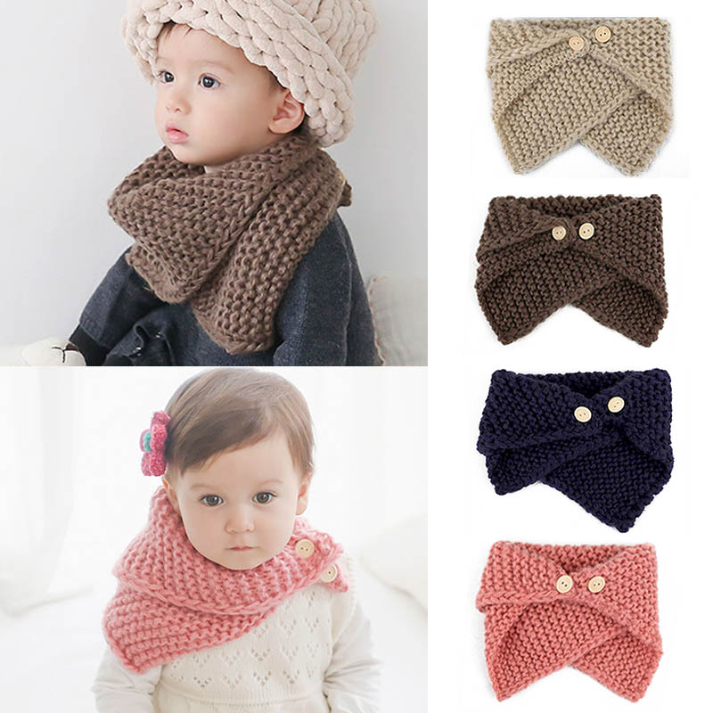2019 Unisex Autumn Winter Baby Toddler Bibs Children s Knitted ... 5852289477a6