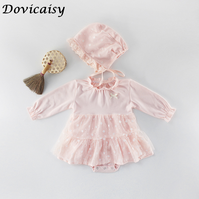 Baby Girl Bodysuit  Autumn Princess Newborn Baby Clothes For 0-2Y Girls Boys Long Sleeve Jumpsuit Kids Baby Outfits Clothes