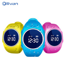 Original yqt q520s niños smart watch sos llamada de teléfono wifi gps + lbs smartwatch lindo reloj resistente al agua reloj de pulsera para niños niño