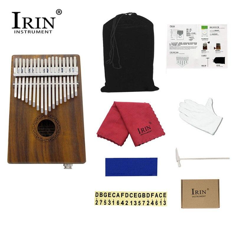 IRIN 17 chiave di Energia Elettrica Kalimba Acacia mangium Pollice Pianoforte Dito Percussioni Per Bambini da Tastiera Con EQ pickup Strumenti Musicali